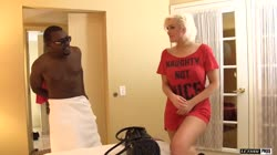 Jenna Gets Her Pussy Stretched By Big Black Cock
