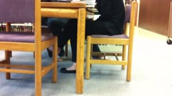 Candid Asian Library Shoeplay Feet Dangling Flats Pt 3