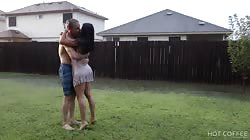 Romantic sex under the rain in Texas (the neighbors saw us)
