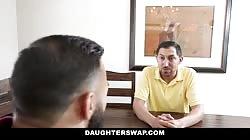 DaughterSwap - Teen Besties Fuck Eachothers Dads