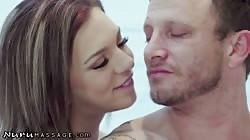 NuruMassage Hot Masseuse Tiffany Watson Can't Stop Squirting When He Uses His Tongue