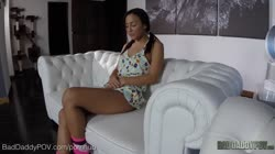 Amara Romani Punished By Her Daddy For Having Bad Grades